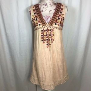 Anthropologie Theme Multi Color Embroidered Dress